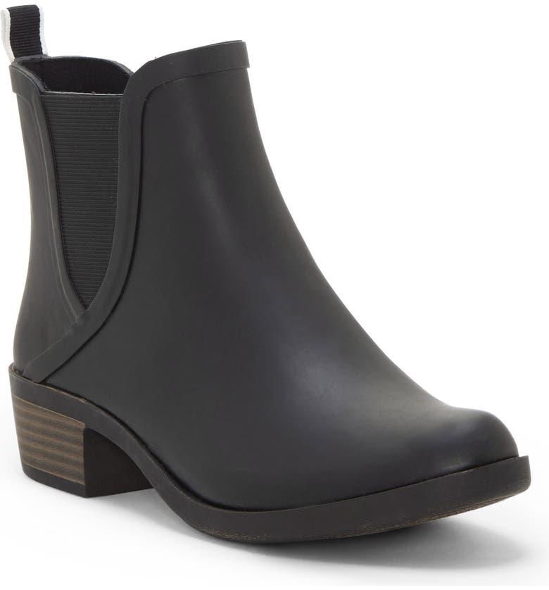 LUCKY BRAND Basel Rain Bootie, Main, color, BLACK