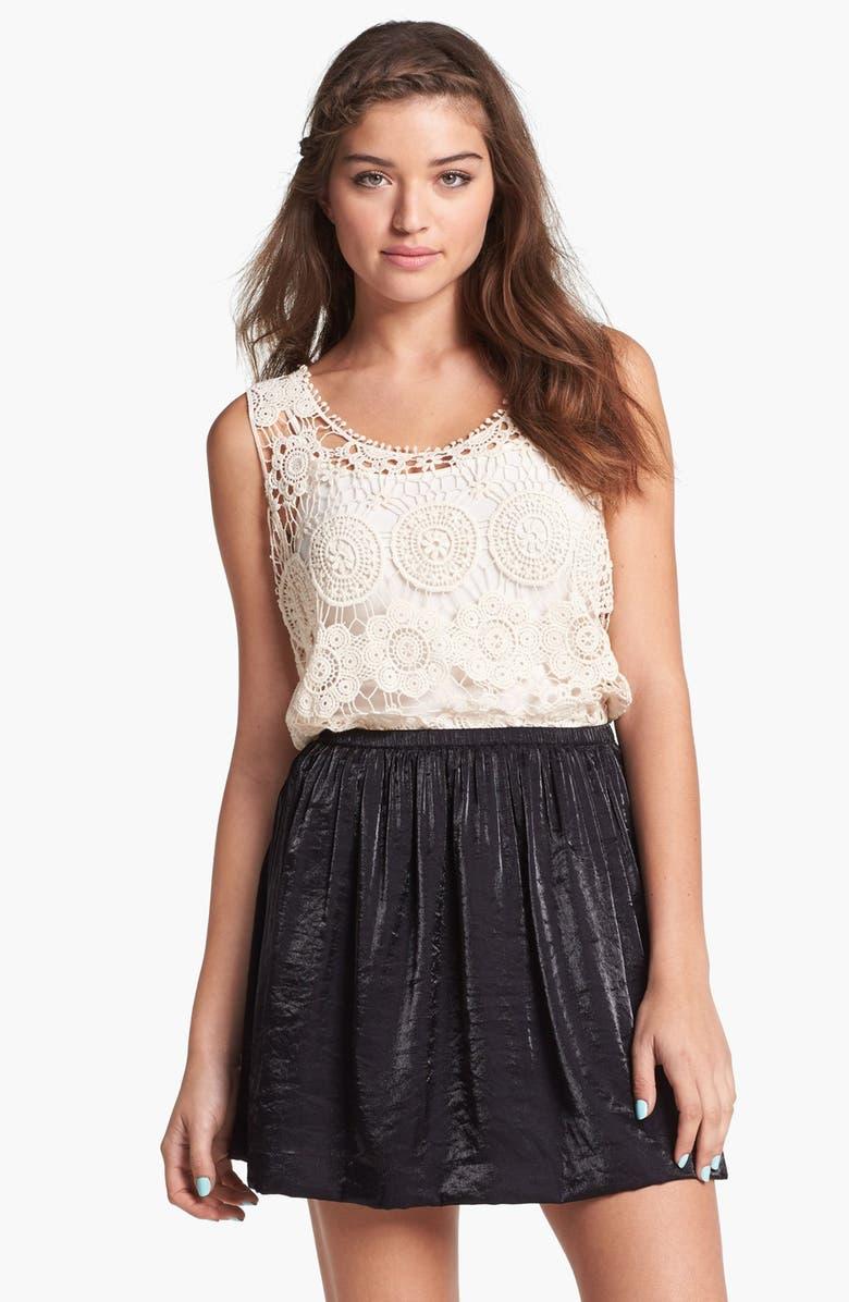 FRENCHI <sup>®</sup> Shiny Skater Skirt, Main, color, Black
