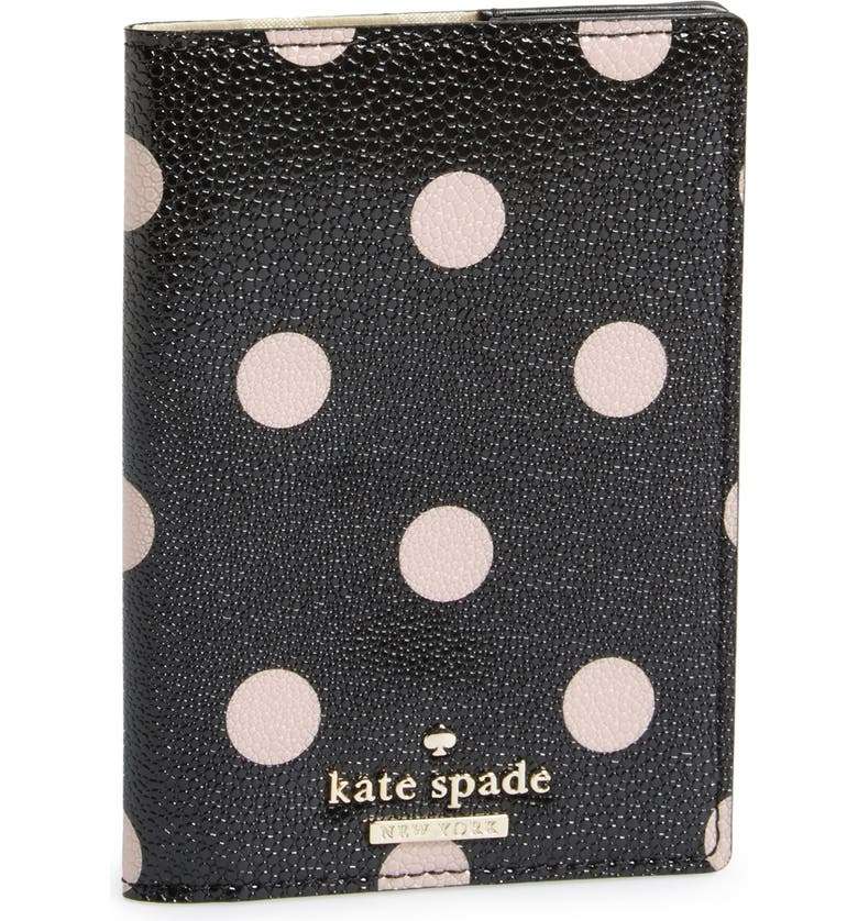 KATE SPADE NEW YORK 'cedar street dot' passport holder, Main, color, 002