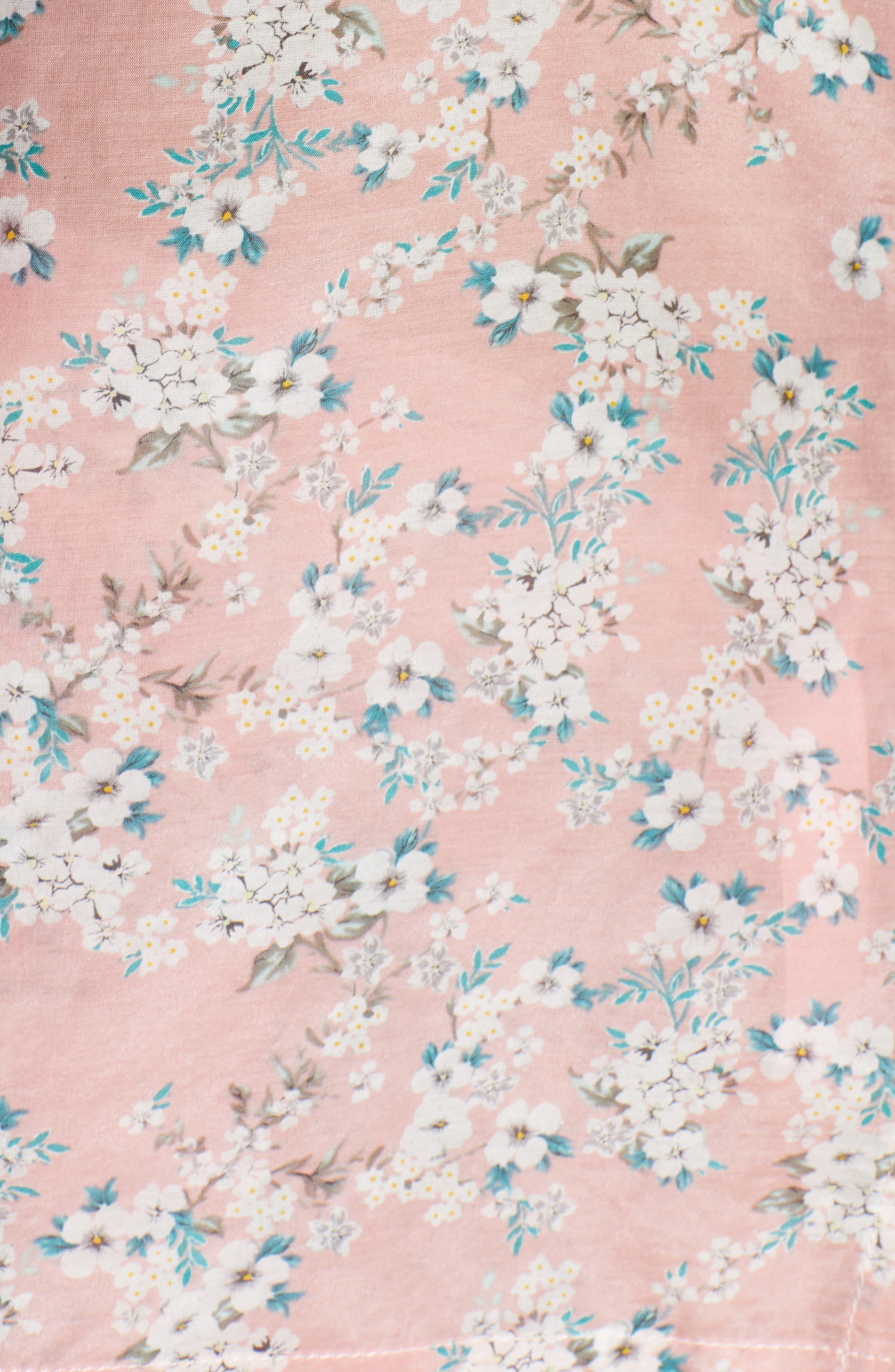 ,                             Isabelle Cotton & Silk Crop Pajamas,                             Alternate thumbnail 5, color,                             DARK PINK