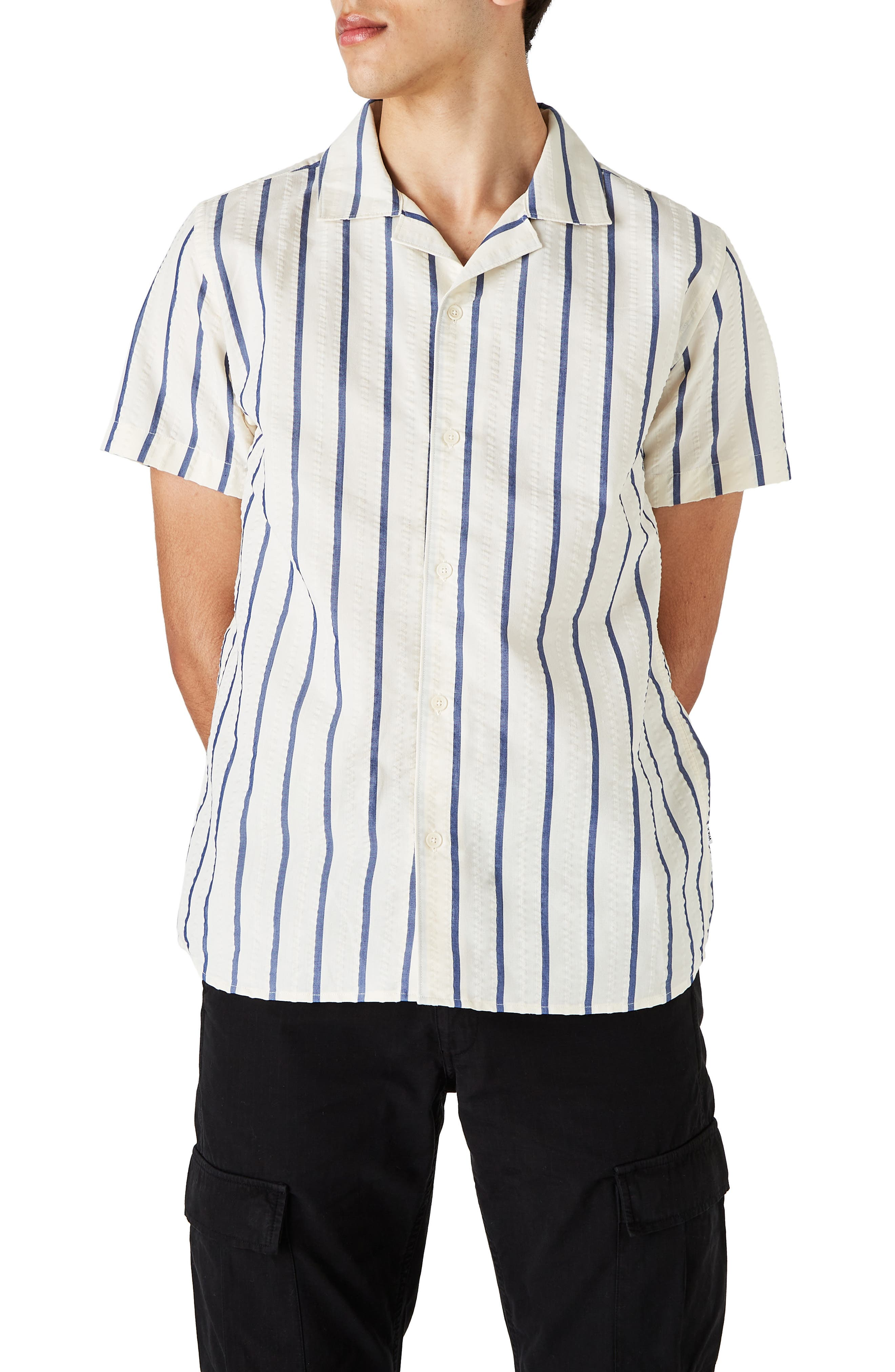 Woven Open V Neck Ladies Bowling Blouse White Short sleeves  Sports