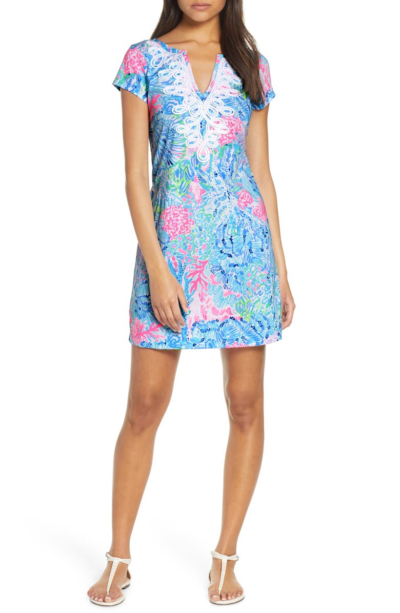 LILLY PULITZER<SUP>®</SUP> Brewster Shift Dress, Main, color, MULTI SINK OR SWIM