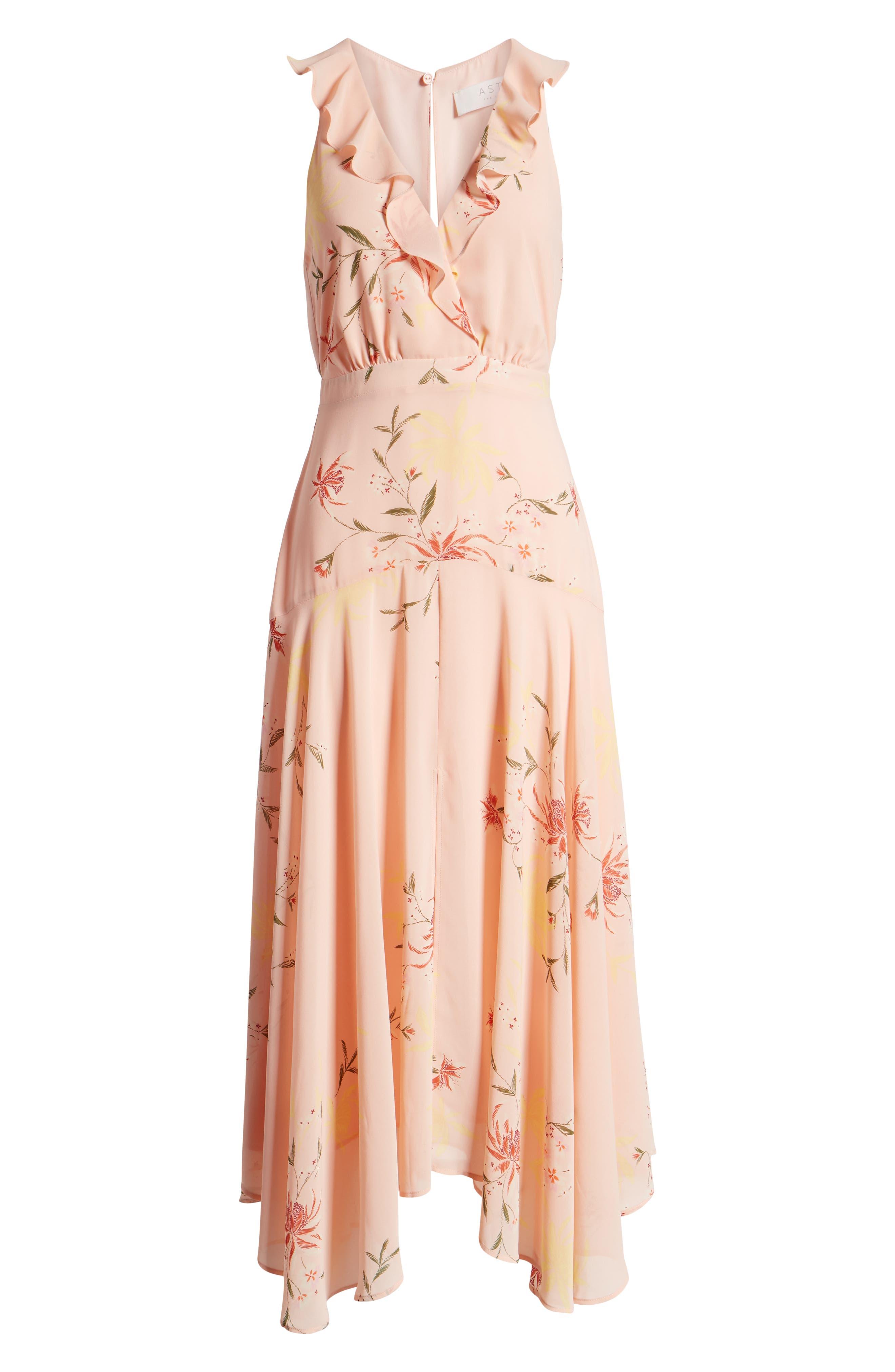 ,                             Ruffle Detail High/Low Sleeveless Maxi Dress,                             Alternate thumbnail 7, color,                             950