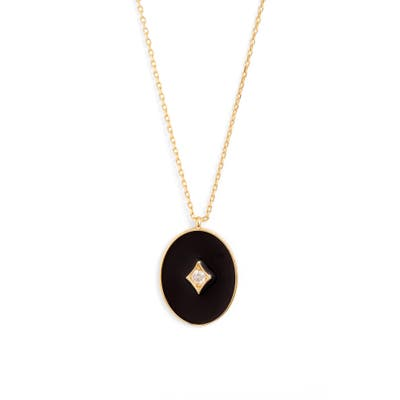 Argento Vivo Black Enamel Plated Sterling Silver Pendant Necklace