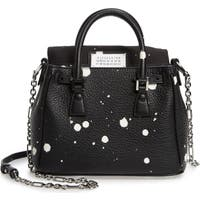 Deals on MAISON MARGIELA Mini 5AC Flap Splatter Leather Shoulder Bag