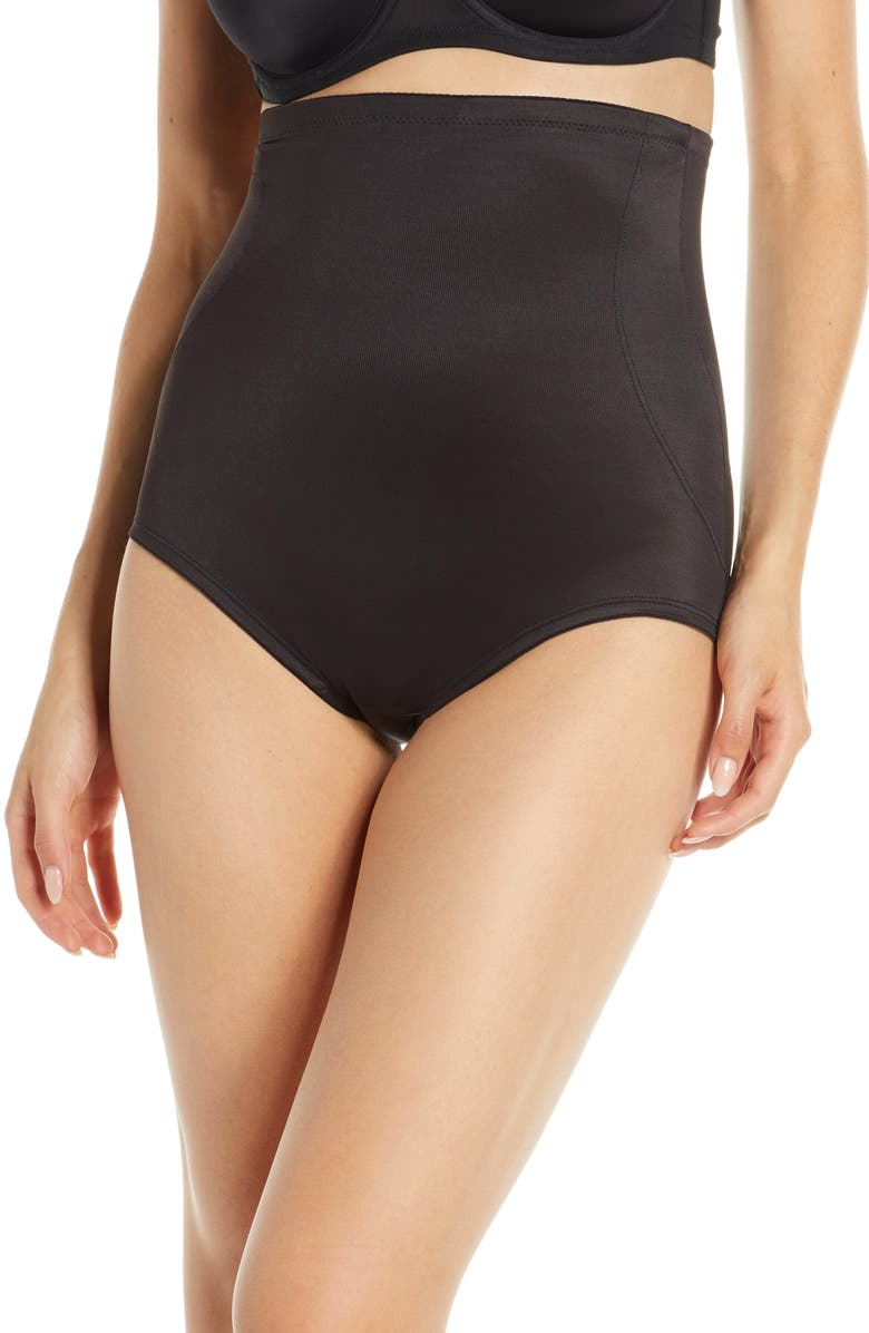 MIRACLESUIT<SUP>®</SUP> Back Magic<sup>®</sup> High Waist Shaping Briefs, Main, color, BLACK
