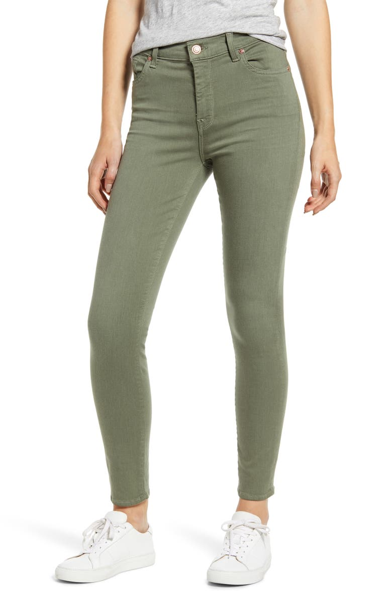 7 FOR ALL MANKIND<SUP>®</SUP> High Waist Ankle Skinny Jeans, Main, color, FATIGUE