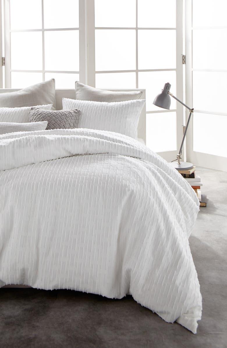 DKNY Refresh Cotton Duvet Cover, Main, color, WHITE