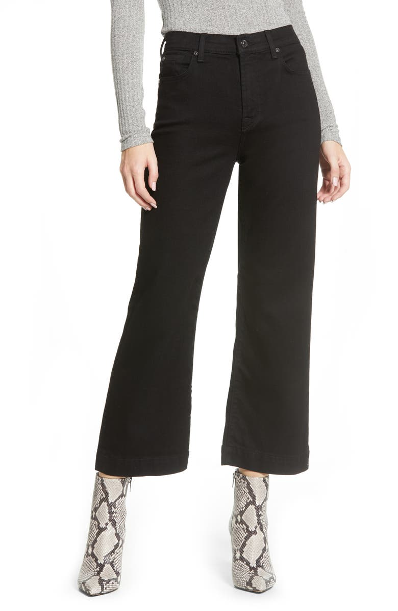 7 FOR ALL MANKIND<SUP>®</SUP> Alexa Crop Wide Leg High Waist Jeans, Main, color, LUXE VINTAGE NIGHTFALL