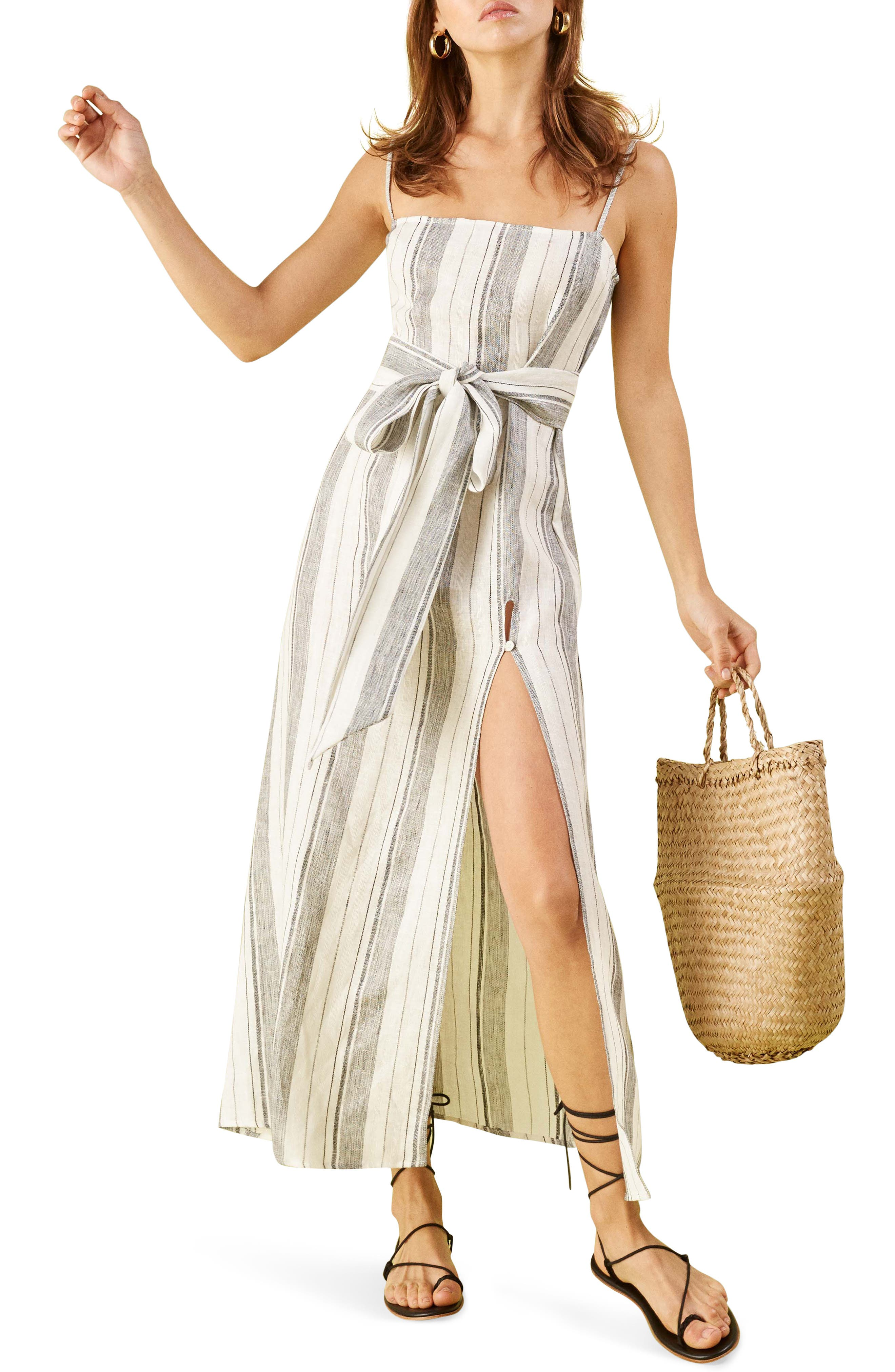 ,                             Pineapple Maxi Dress,                             Main thumbnail 1, color,                             LOUSIANA STRIPE