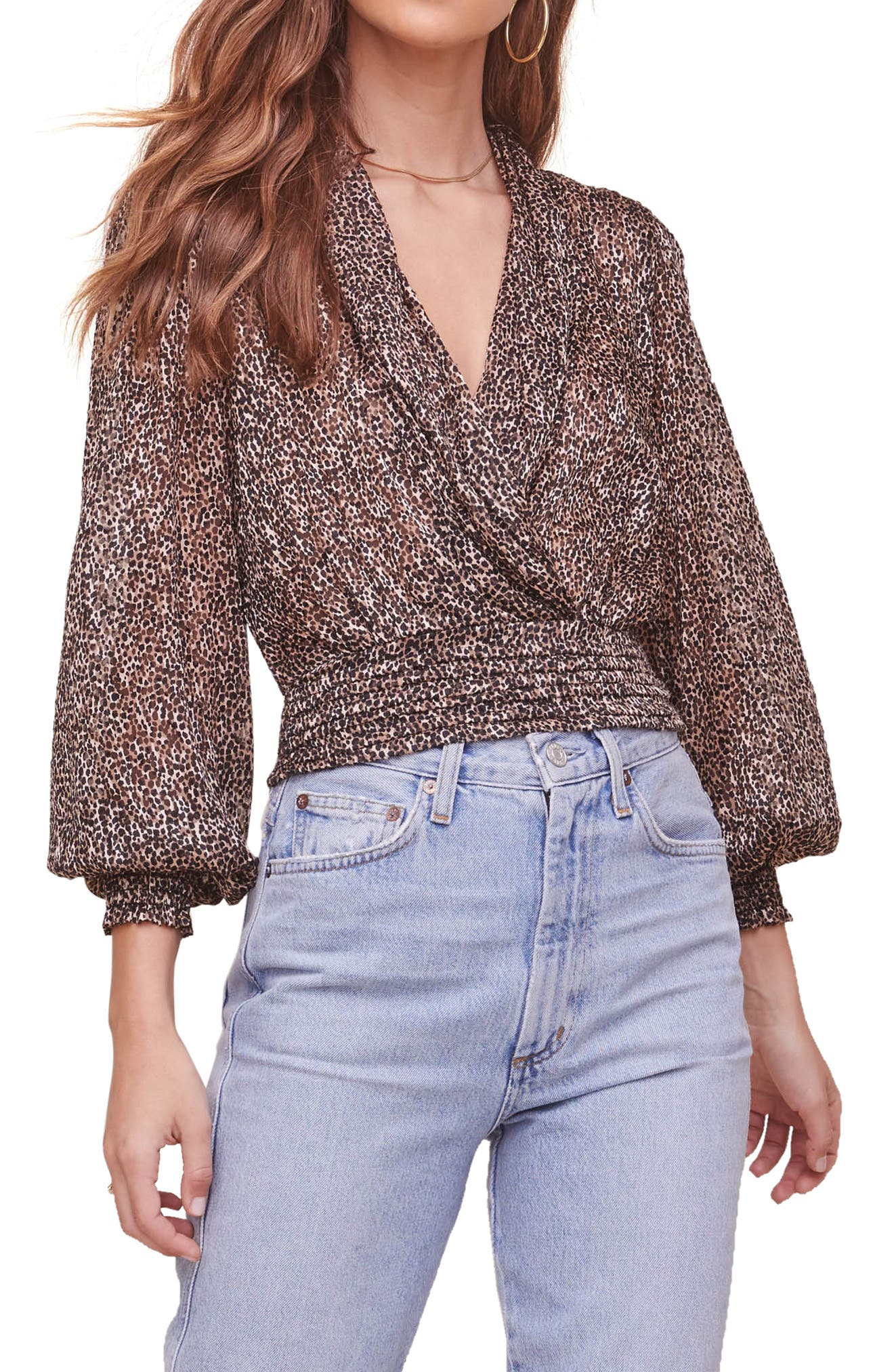 So Exotic Faux Wrap Top
