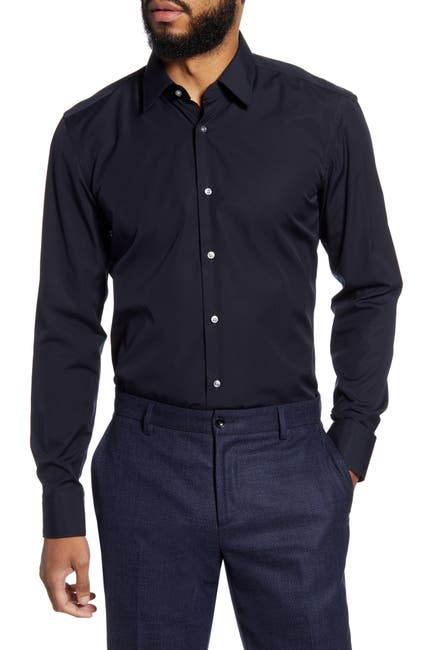 Image of BOSS Jano Slim Fit Easy Iron Solid Dress Shirt