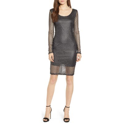 Sentimental Ny Mesh Sheath Dress, Black