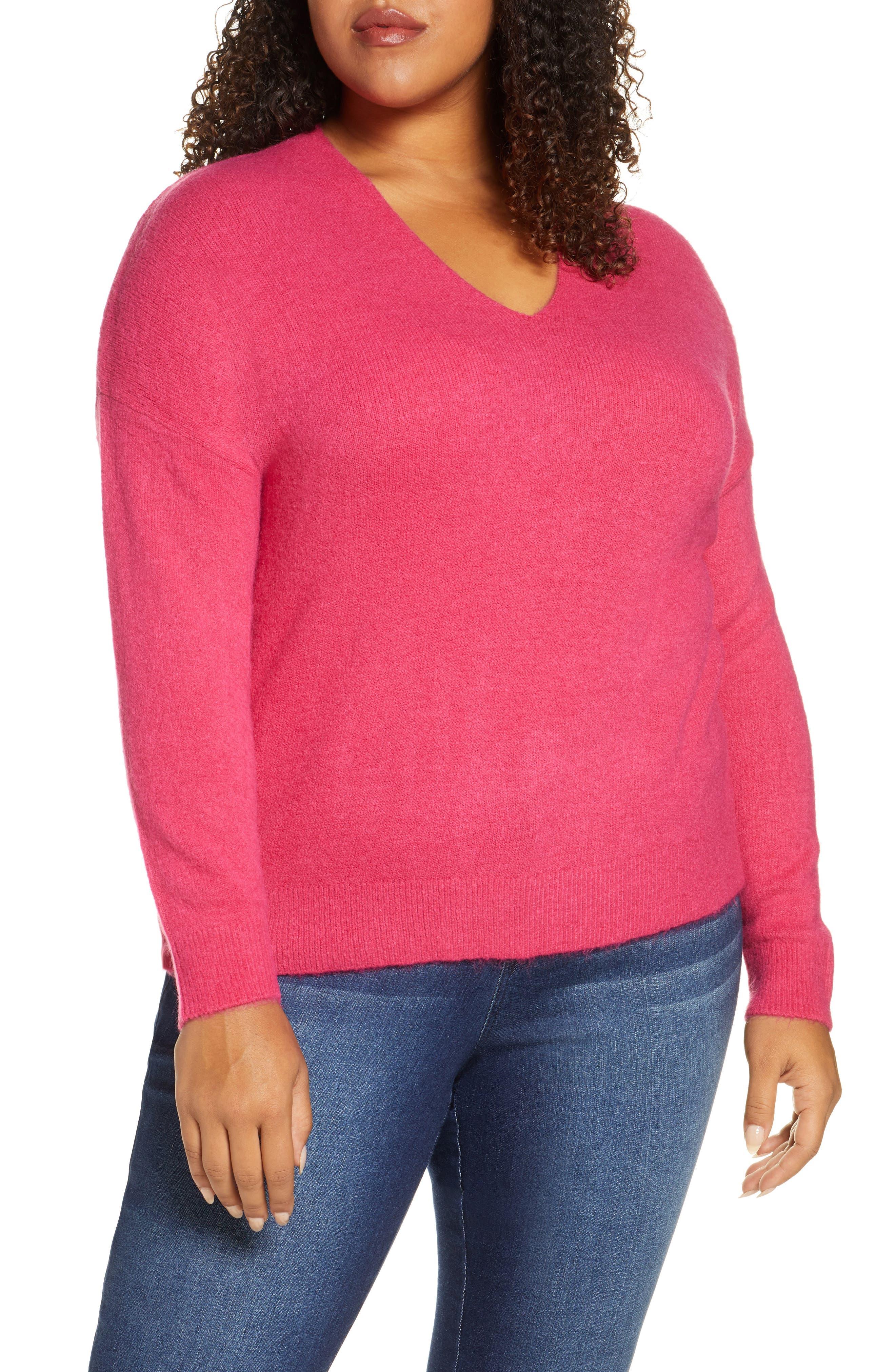 Image of Rachel Rachel Roy Ivory V-Neck Pullover Sweater