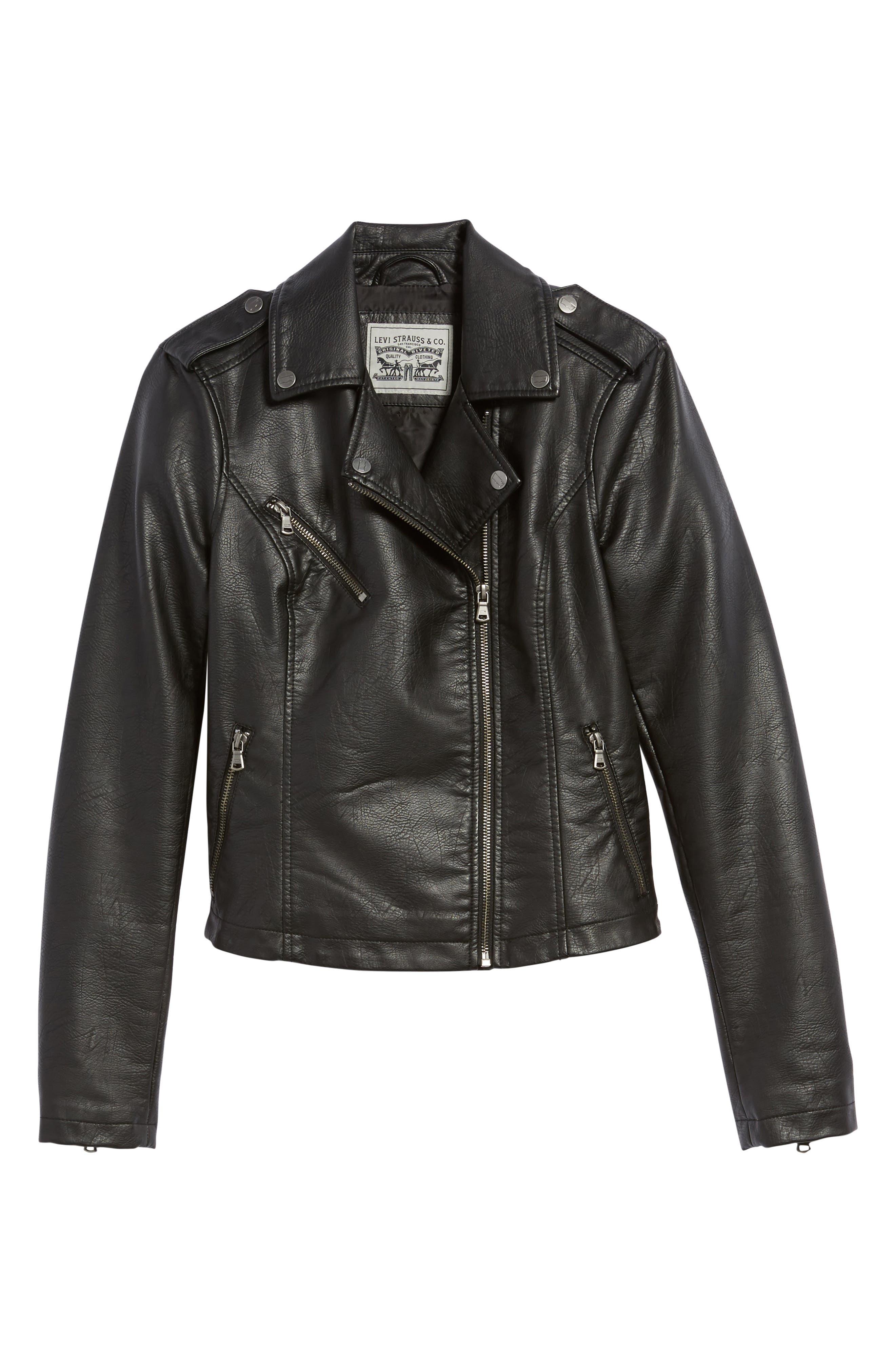 ,                             Faux Leather Moto Jacket,                             Alternate thumbnail 25, color,                             001