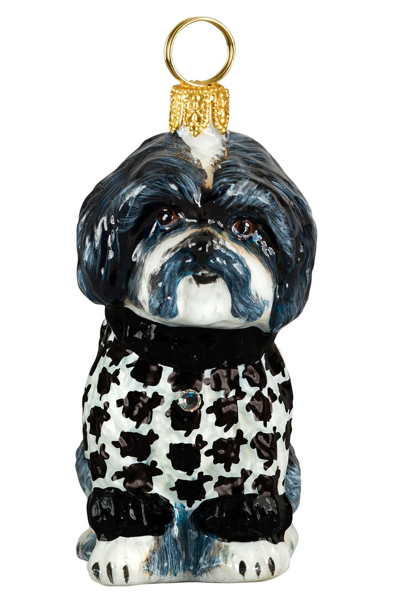 JOY TO THE WORLD COLLECTIBLES 'Dog in HoundstoothSweater' Ornament, Main, color, 001