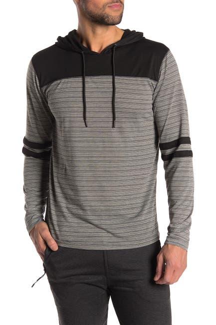 Image of Burnside Hooded Knit Long Sleeve T-Shirt