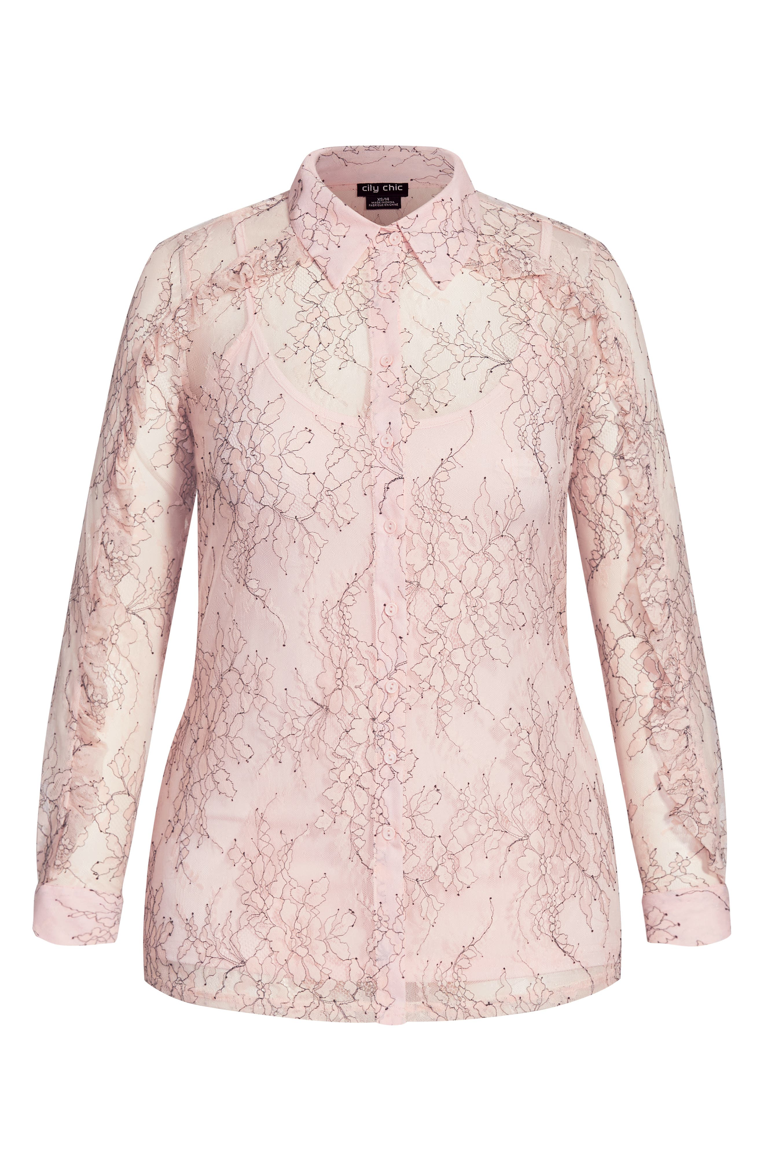 Ruffled Lace Top