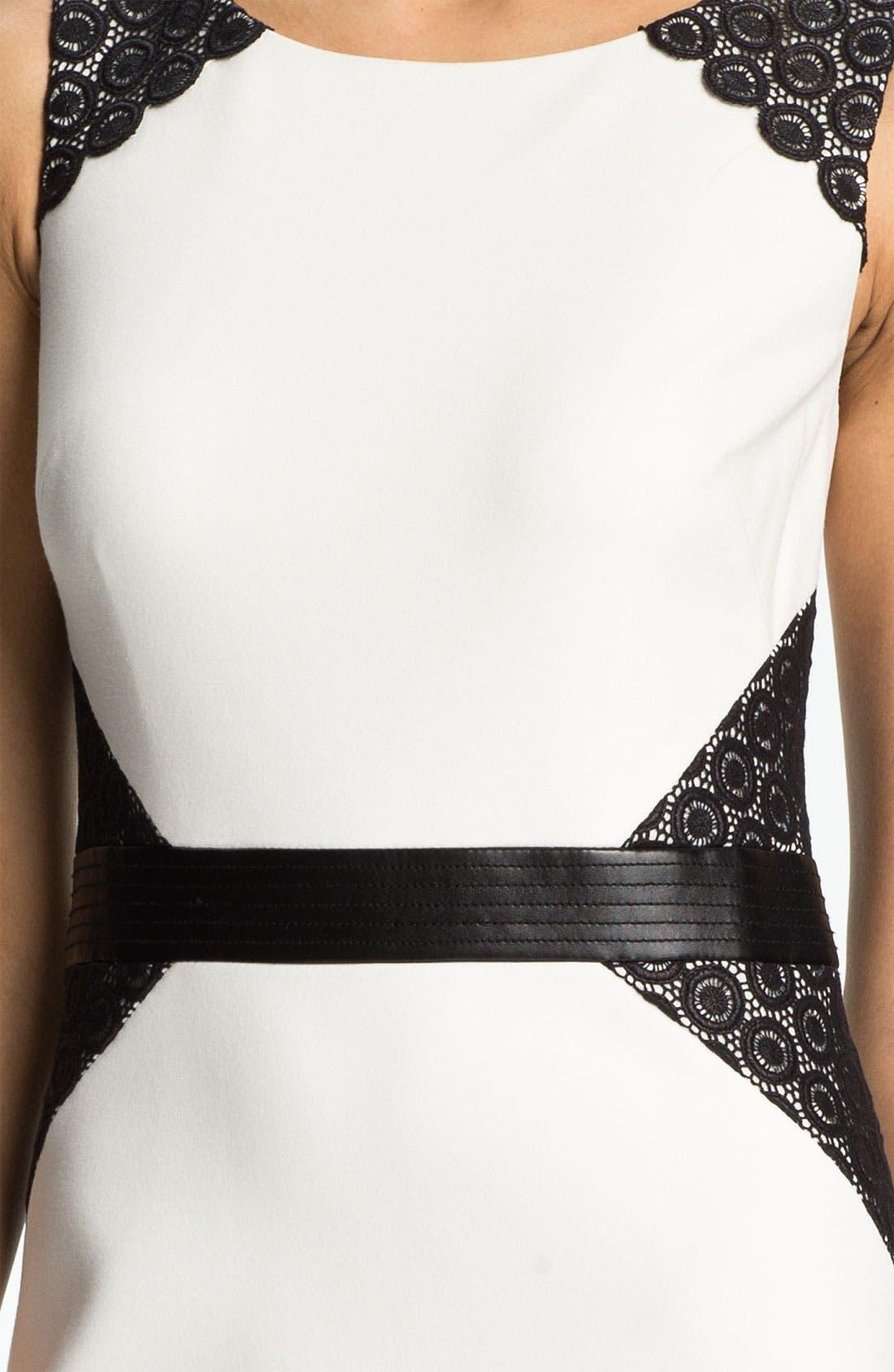 ,                             Lace Inset Ponte Sheath Dress,                             Alternate thumbnail 2, color,                             152