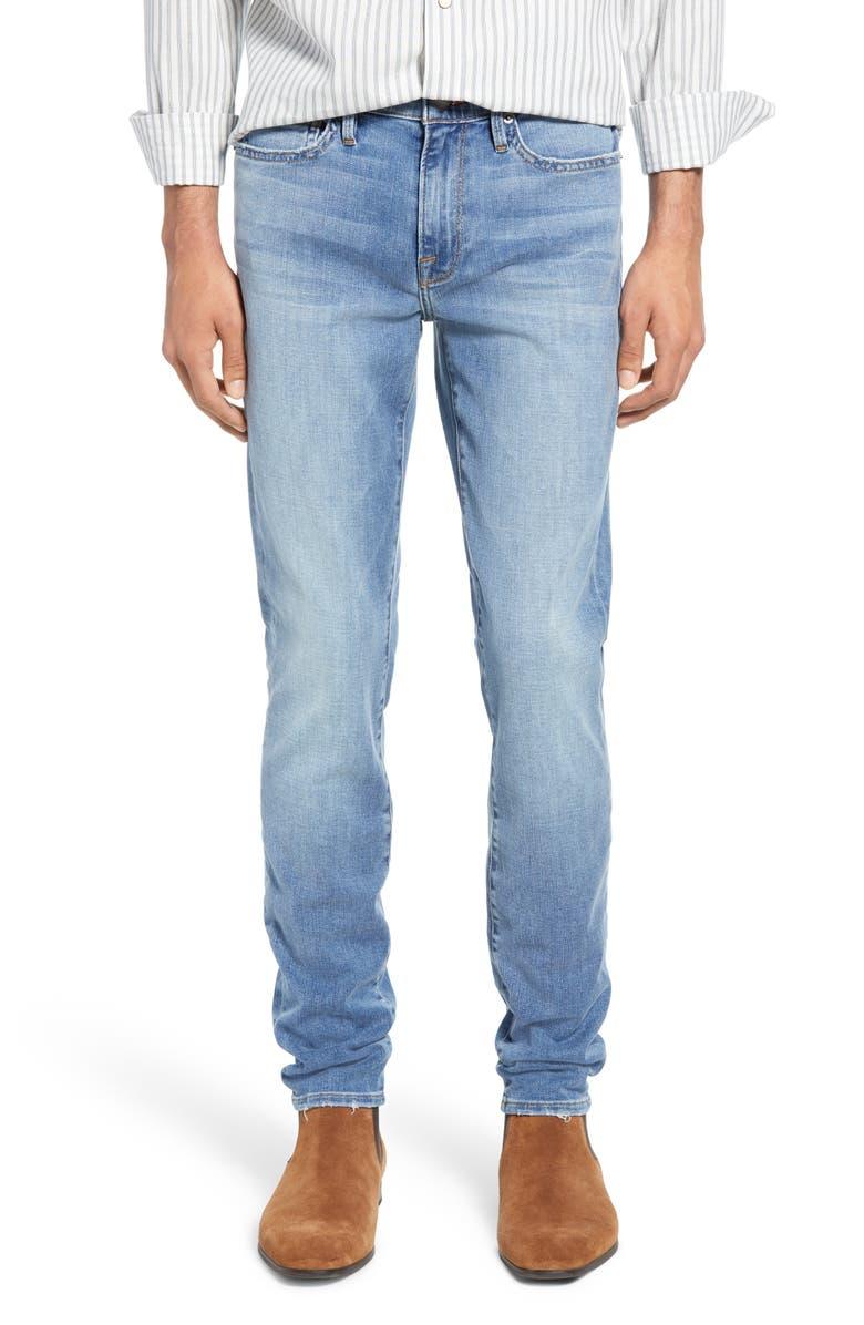 FRAME L'Homme Skinny Fit Jeans, Main, color, BASTILLE