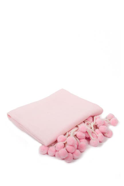 Image of 8 Oak Lane Pink Pompom Throw