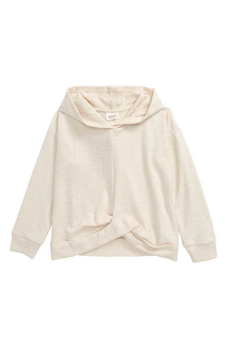 SEED HERITAGE Twist Front Hoodie, Main, color, OAT