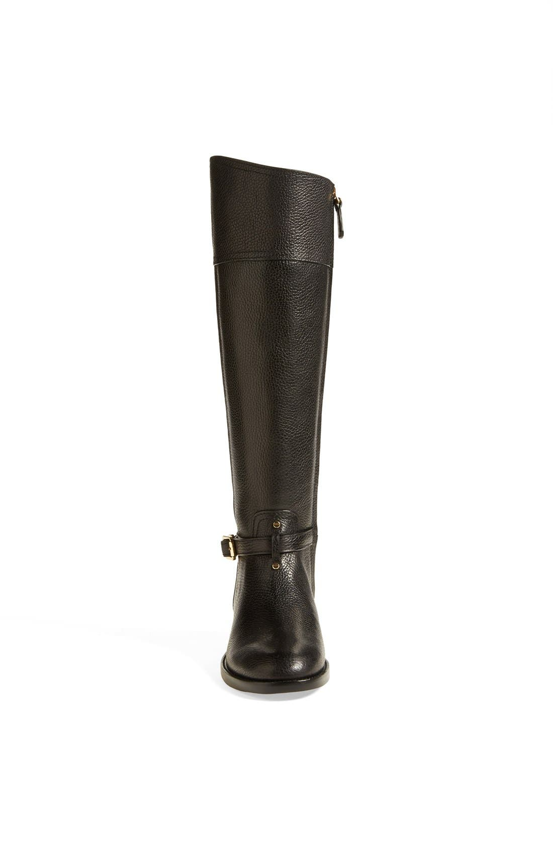 ,                             'Marlene' Leather Riding Boot,                             Alternate thumbnail 6, color,                             001