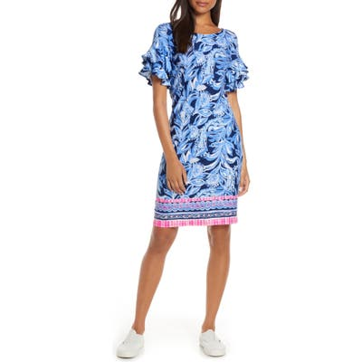 Lilly Pulitzer Dianna Ruffle Sleeve Dress, Blue