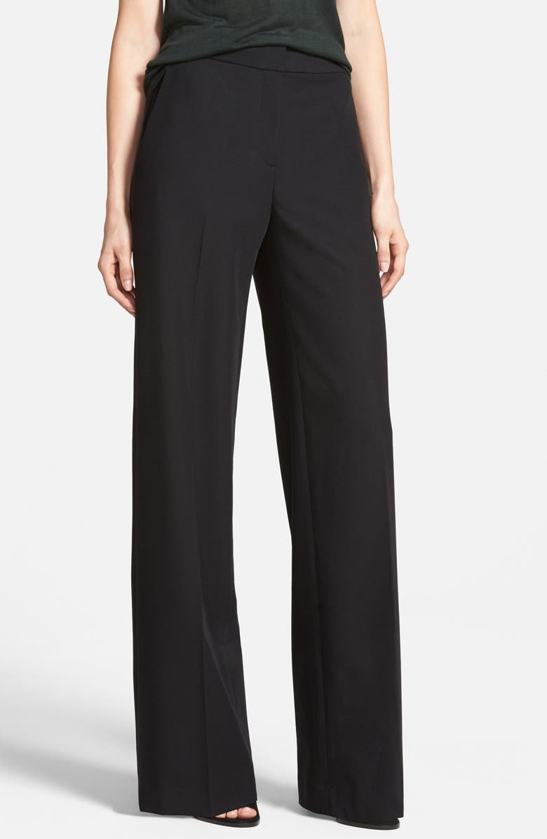 CHELSEA28 Flat Front Wide Leg Pants, Main, color, 001
