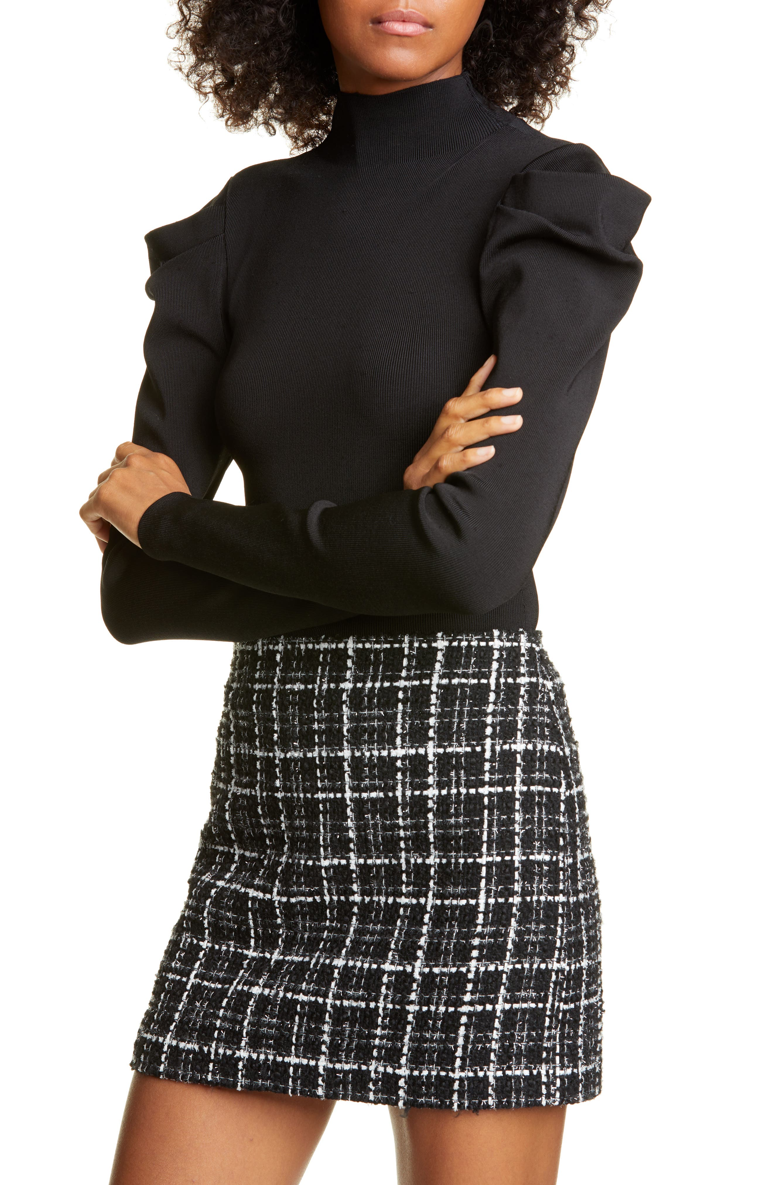 Alice + Olivia Tops CeCe Dramatic Puff Sleeve Pullover