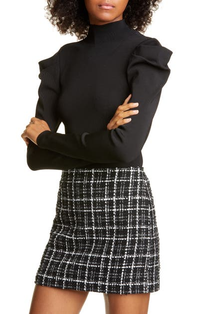 Alice And Olivia Tops CECE DRAMATIC PUFF SLEEVE PULLOVER