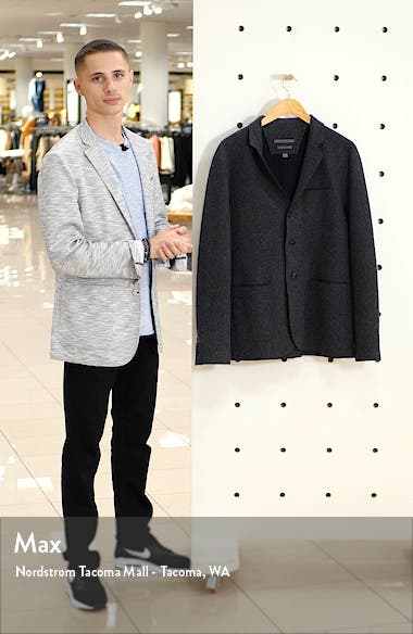 Slim Fit Double Face Wool Blend Sport Coat, sales video thumbnail
