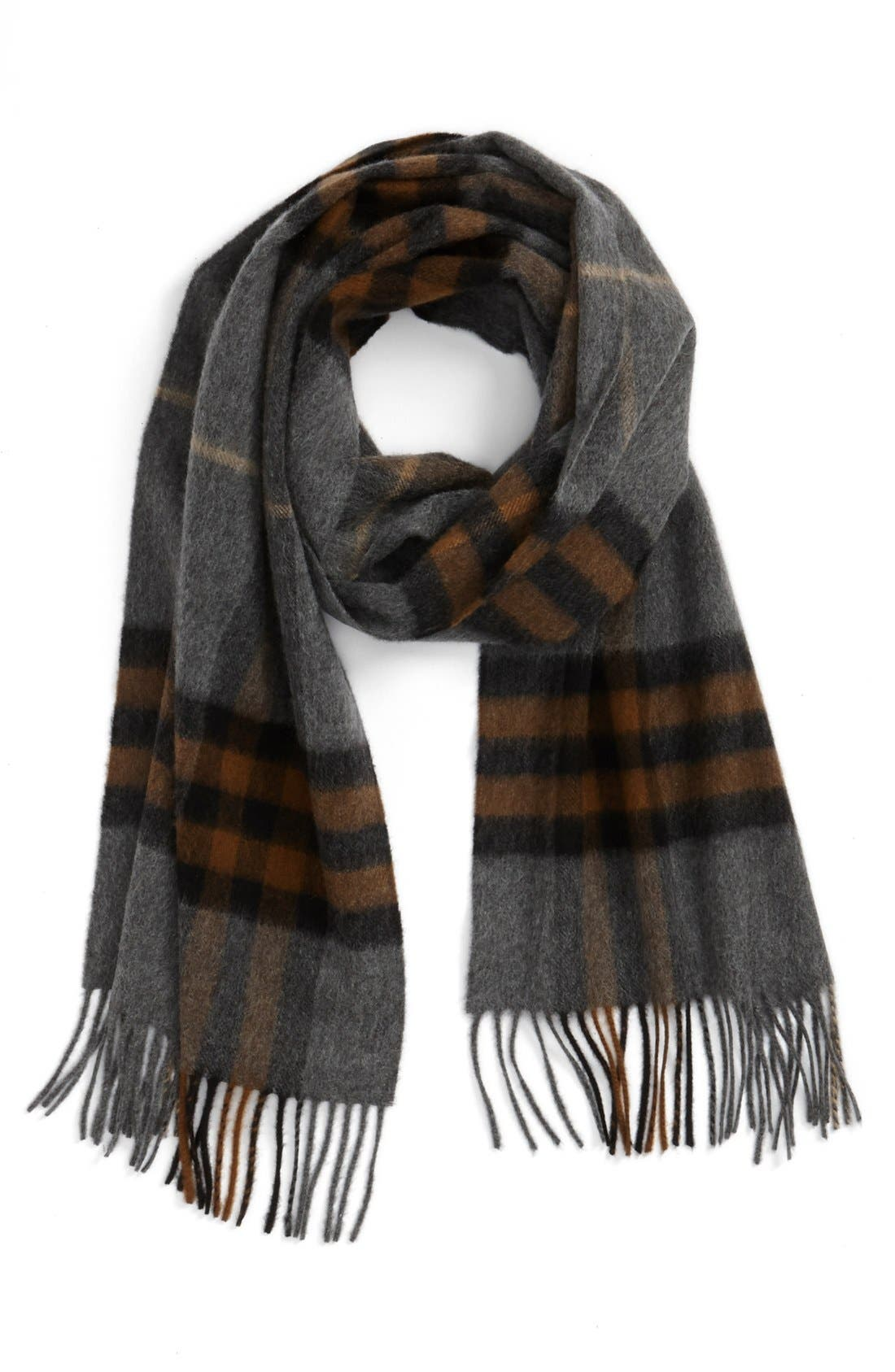 ,                             Heritage Check Cashmere Scarf,                             Main thumbnail 21, color,                             208
