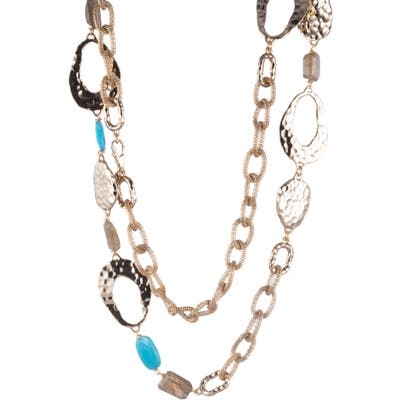 Alexis Bittar Hammered Link & Mesh Chain Necklace