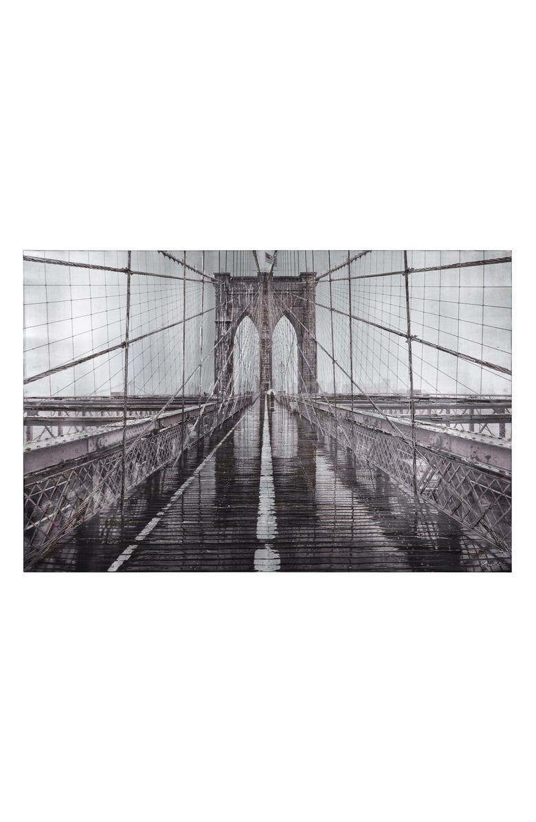 RENWIL Iconic Brooklyn Bridge Canvas Wall Art, Main, color, MULTICOLOR