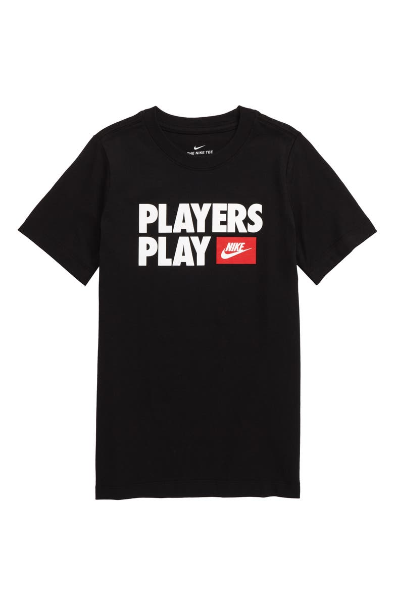 NIKE Sportswear Play Graphic Tee, Main, color, 010