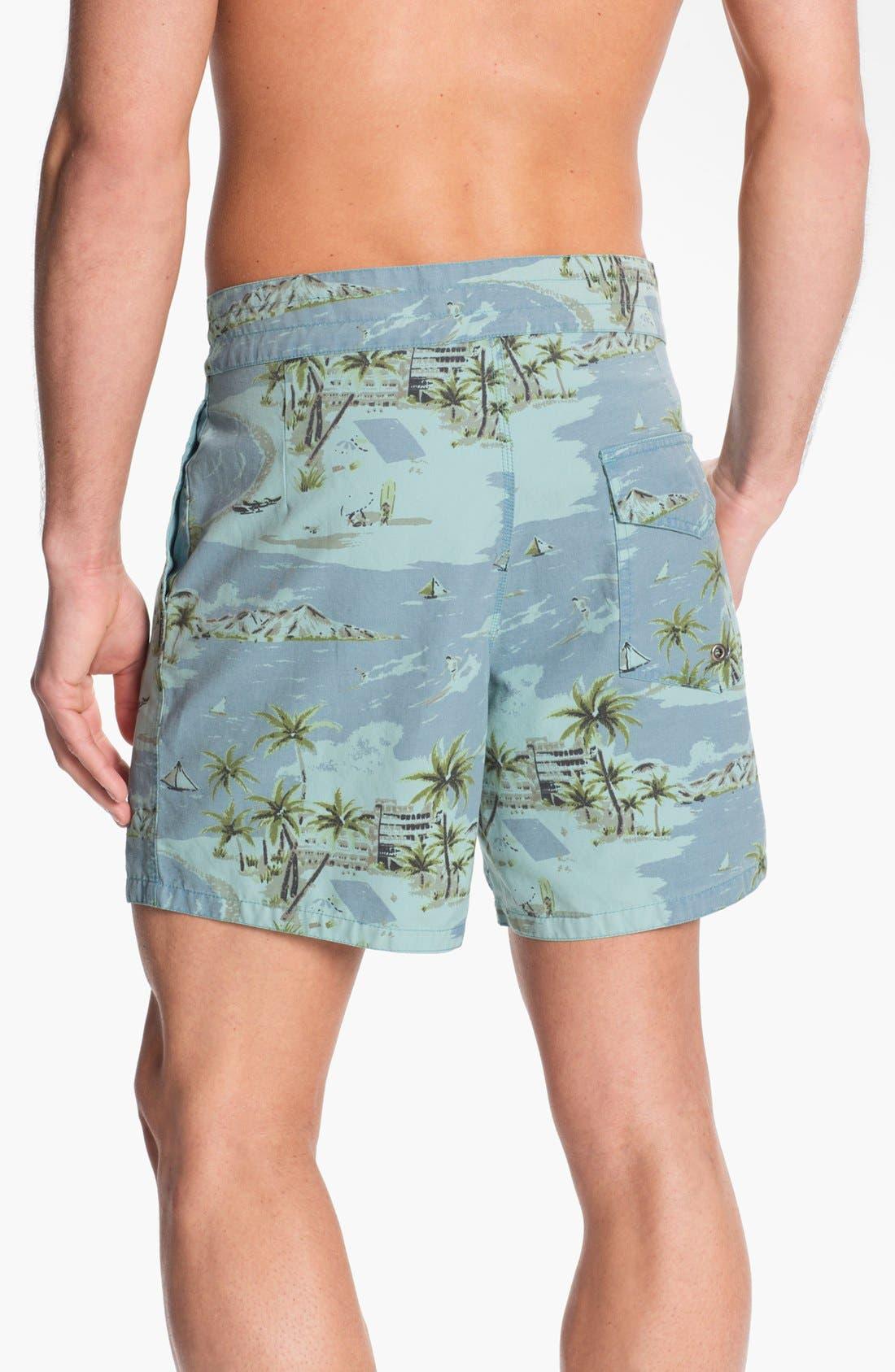 ,                             'Pelican' Print Board Shorts,                             Alternate thumbnail 4, color,                             425