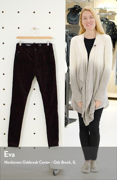 The Farrah High Waist Velveteen Skinny Jeans, sales video thumbnail