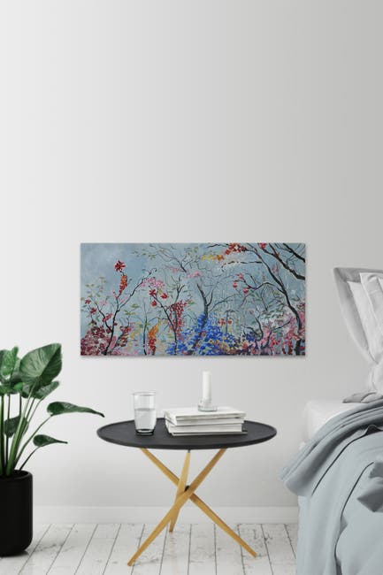 "Image of Marmont Hill Inc. Exquisite Paradise Painting Print on Wrapped Canvas - 30"" x 60"""