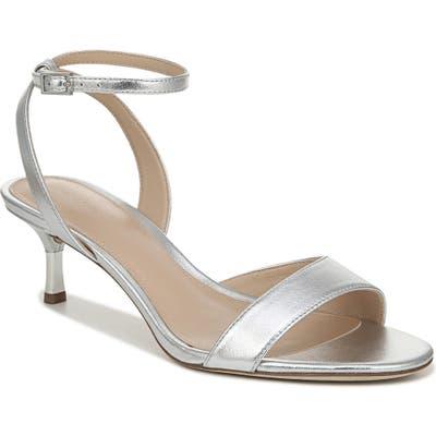 Via Spiga Louise Metallic Ankle Strap Sandal- Metallic