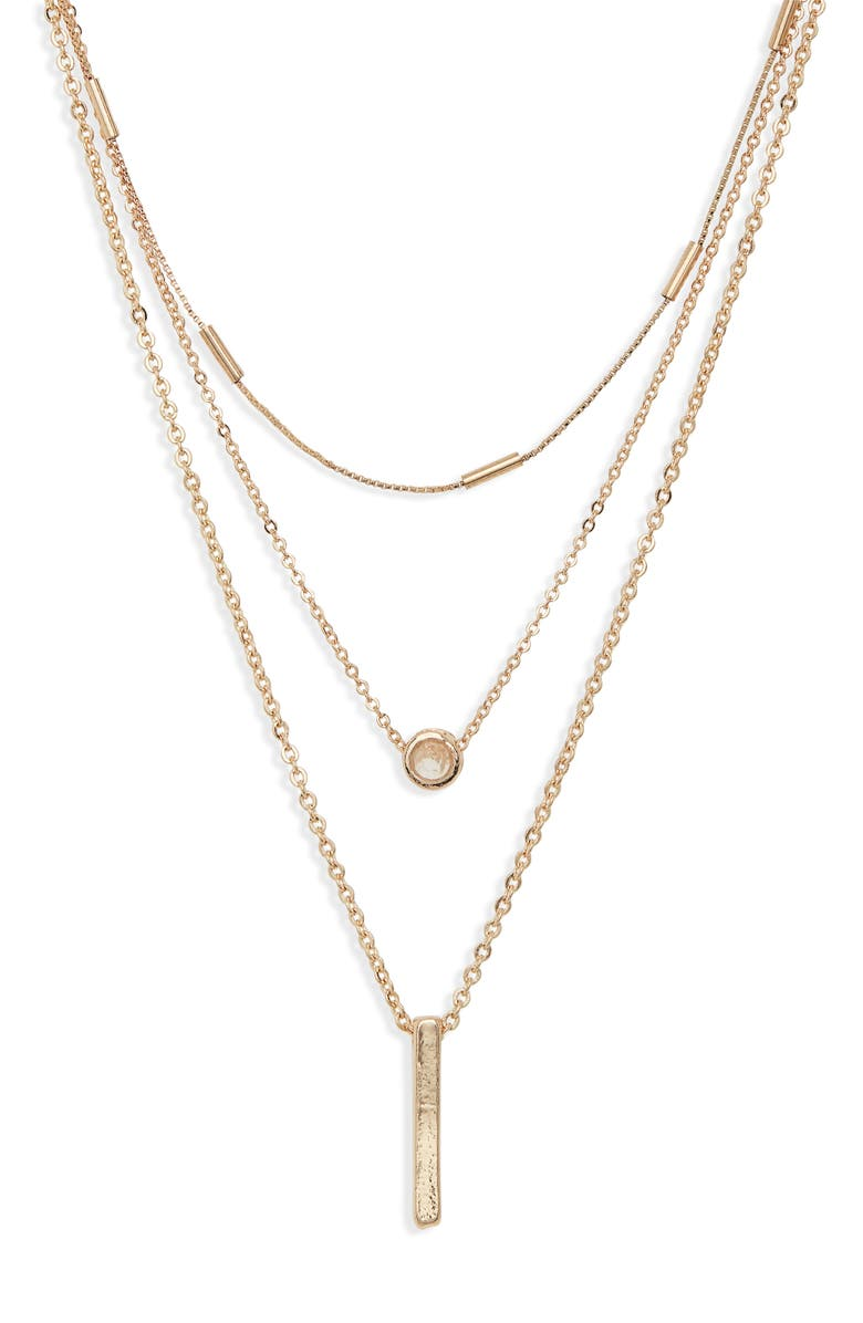 BP. Layered Pendant Necklace, Main, color, 710
