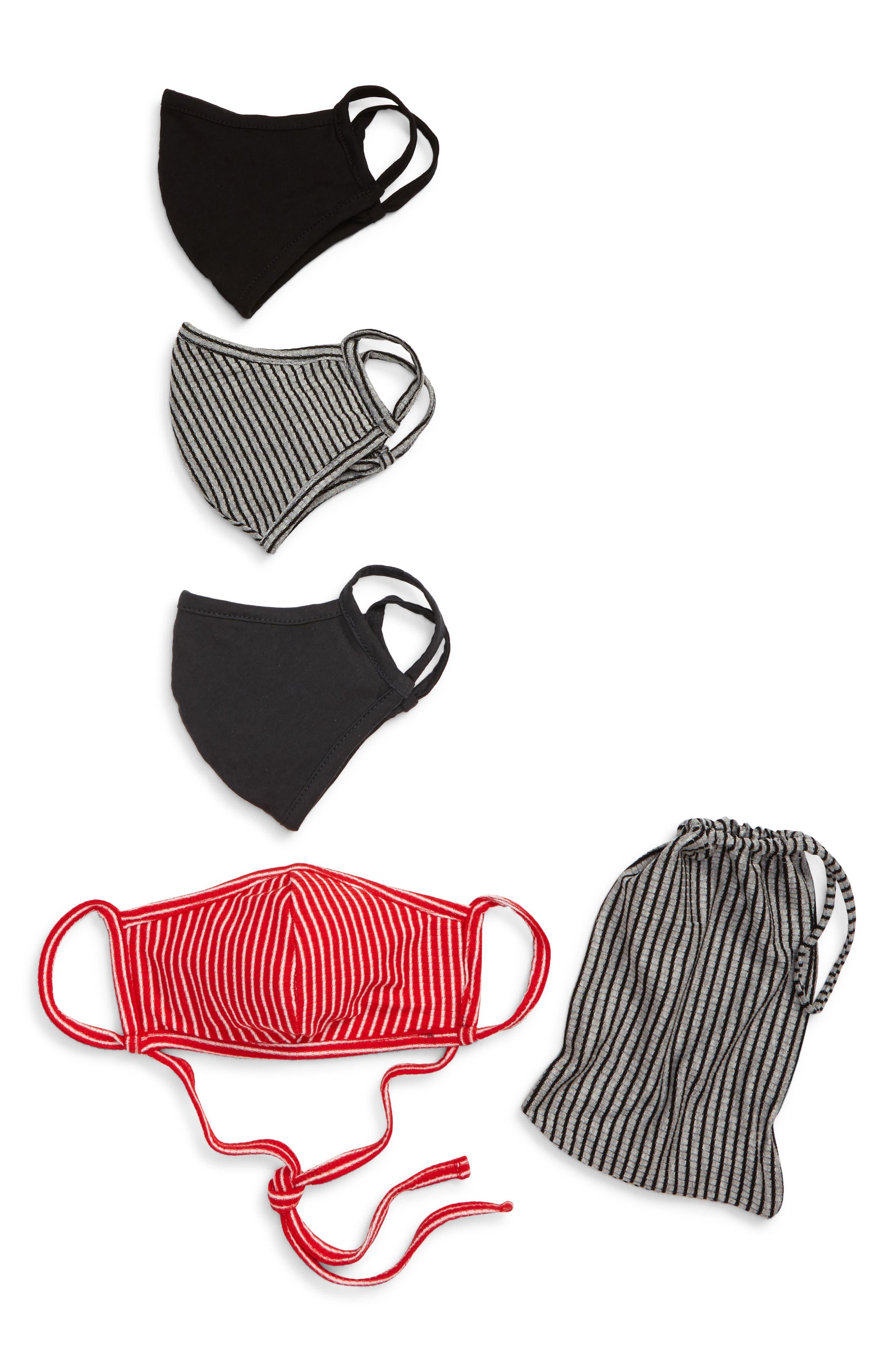 Image of Nordstrom Adult Face Masks - Pack of 4