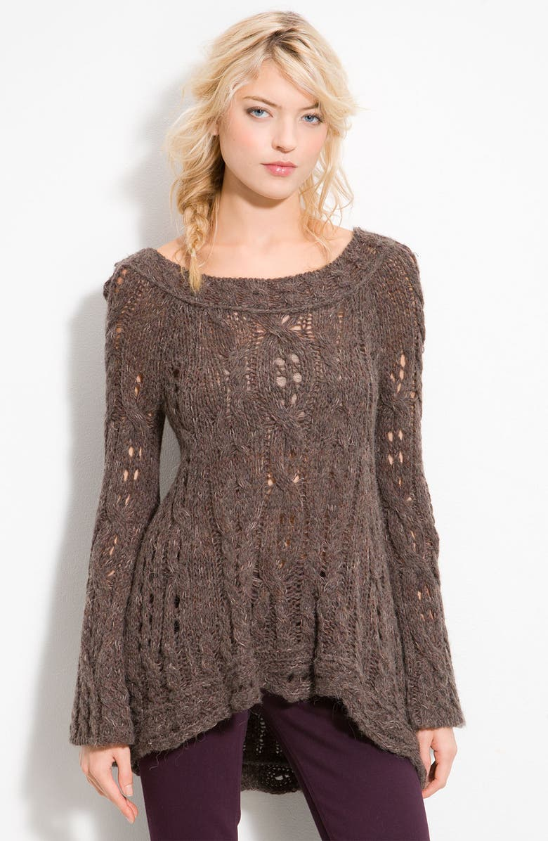 FREE PEOPLE 'Cable Fluted' Pullover, Main, color, 202