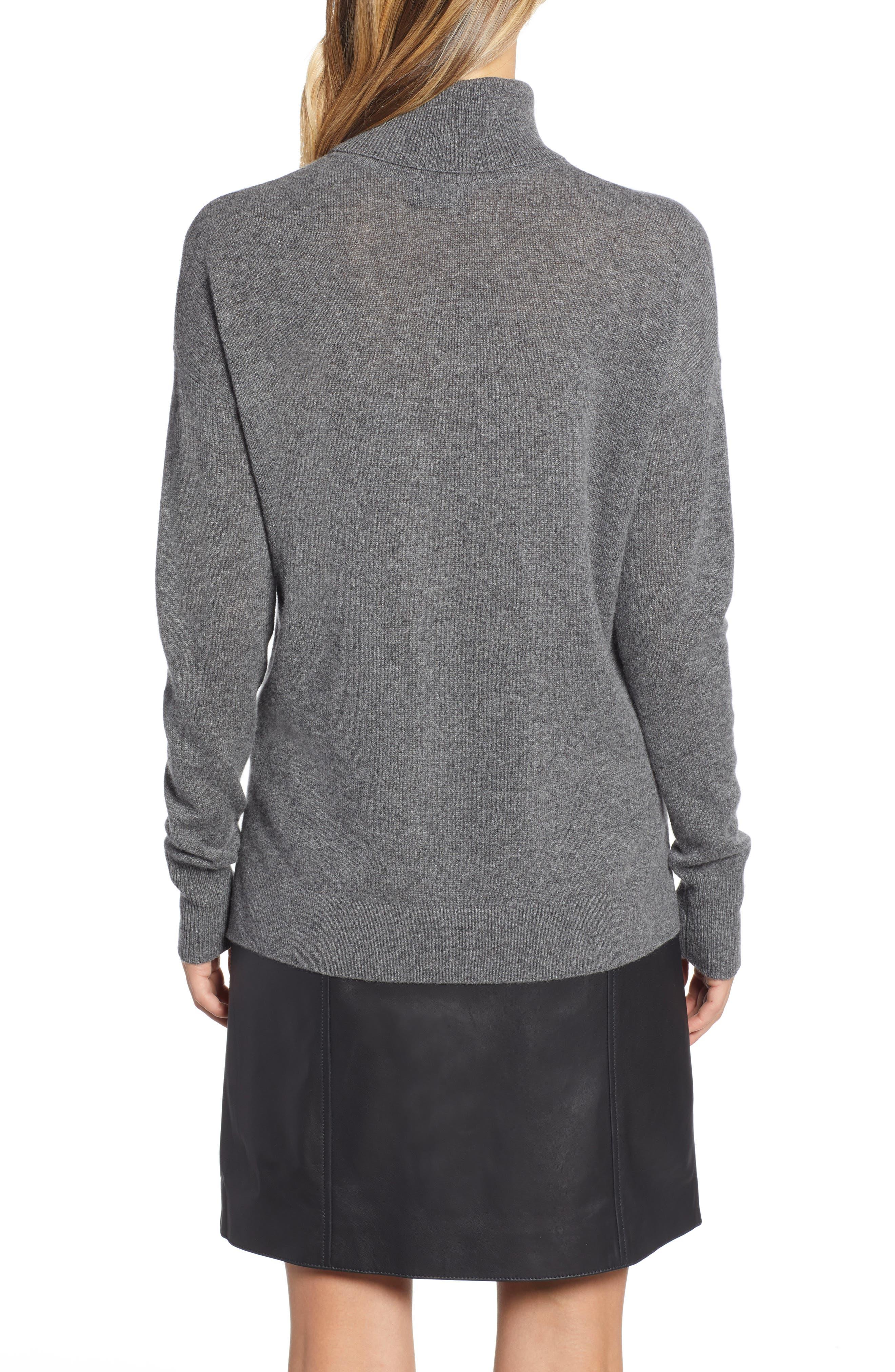 ,                             Cashmere Turtleneck Sweater,                             Alternate thumbnail 14, color,                             030