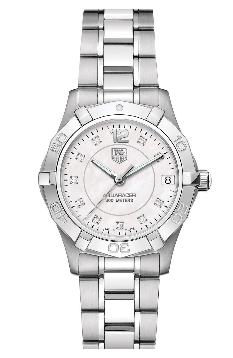 TAG HEUER 'Aquaracer' Diamond Marker Watch, Main, color, 040