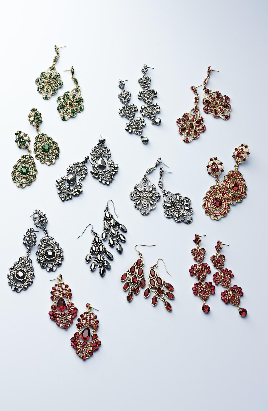 ,                             Ornate Chandelier Earrings,                             Alternate thumbnail 2, color,                             001