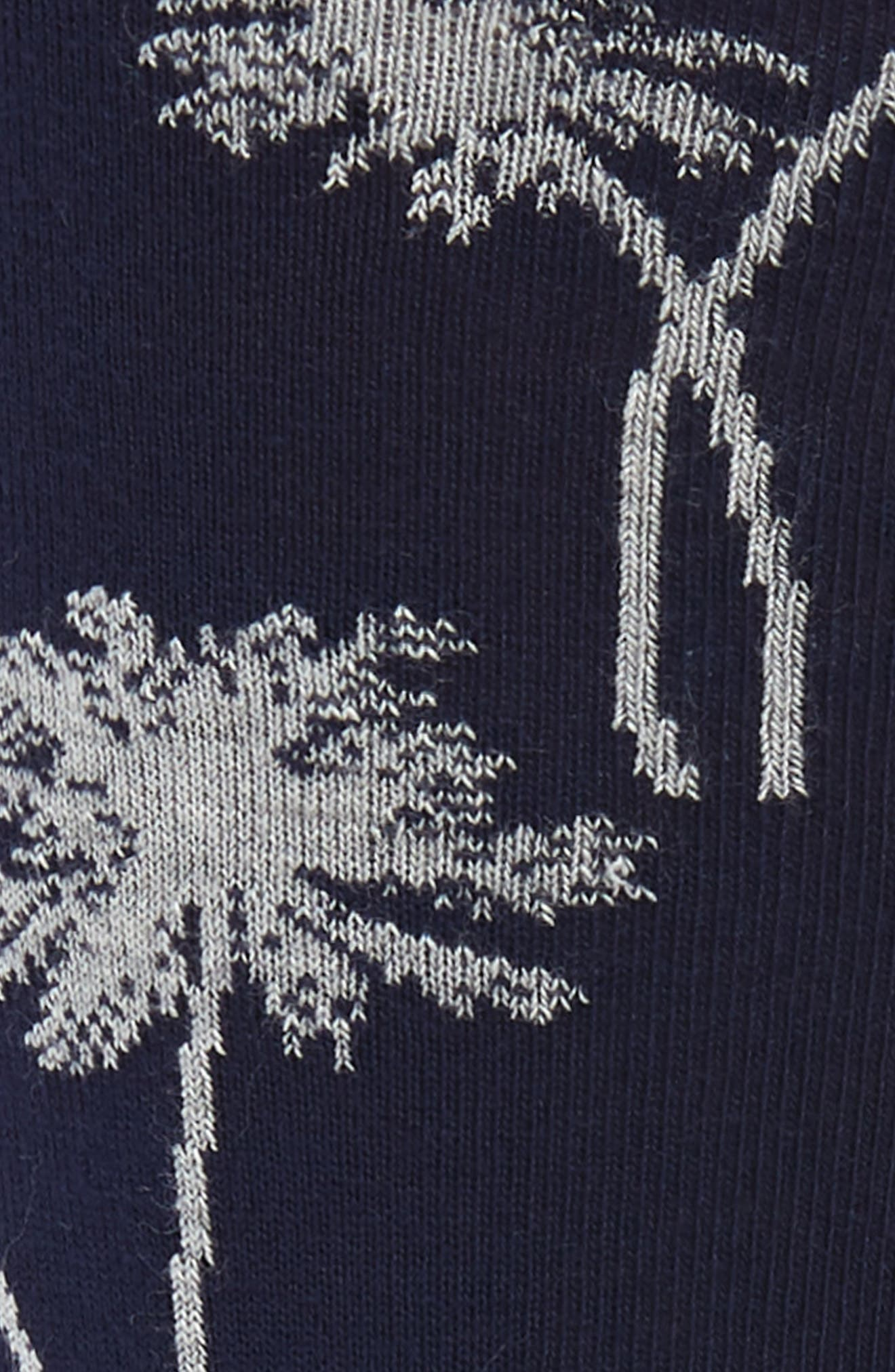 ,                             Shadow Palm Tree Socks,                             Alternate thumbnail 2, color,                             NAVY/ GREY