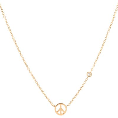 Syd By Sydney Evan Peace Sign Necklace