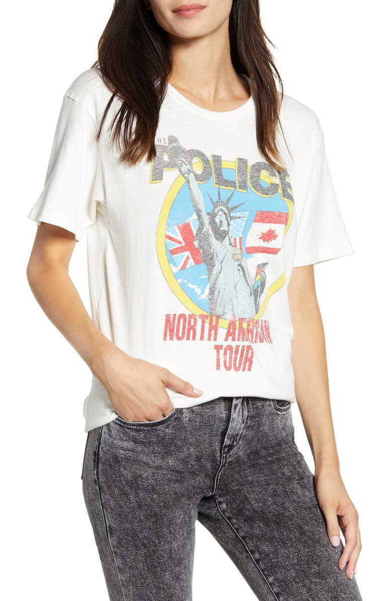 DAYDREAMER The Police Synchronicity Tour Tee, Main, color, VINTAGE WHITE