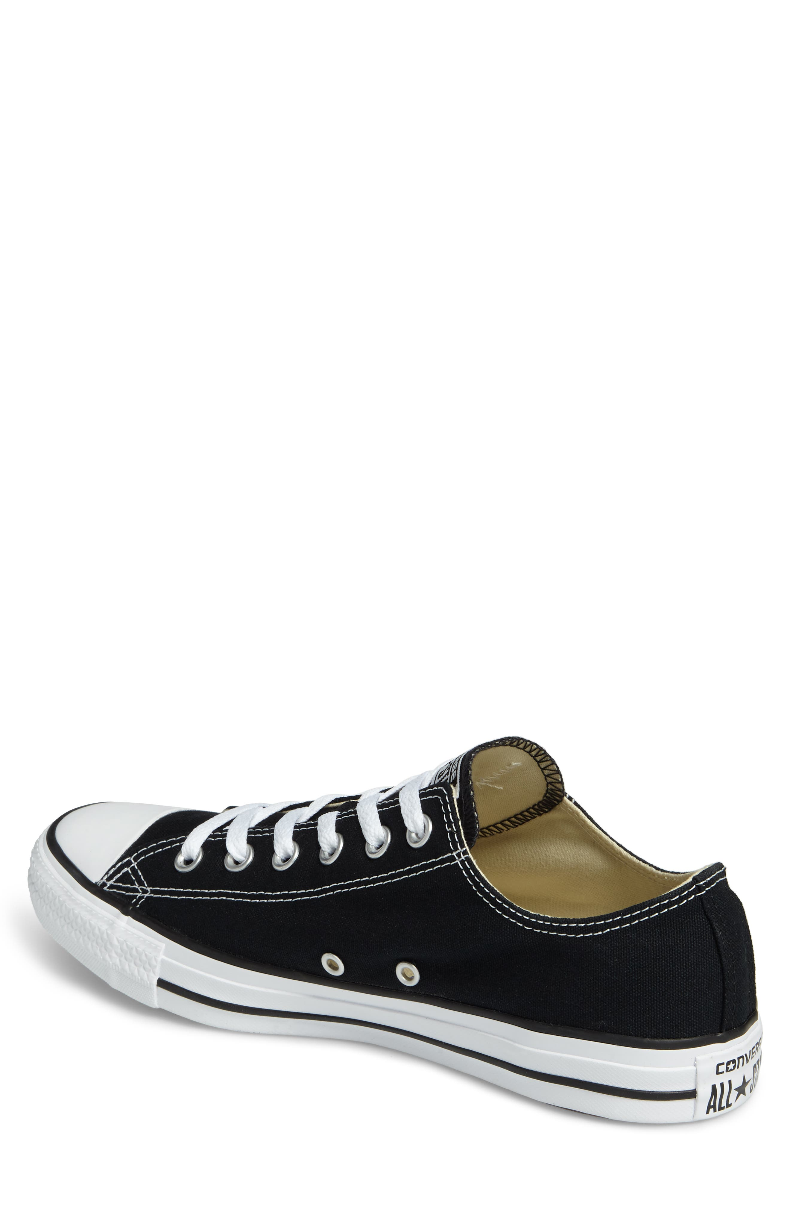 ,                             Chuck Taylor<sup>®</sup> Low Sneaker,                             Alternate thumbnail 2, color,                             BLACK